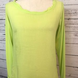 Athleta long sleeve activewear small lime green